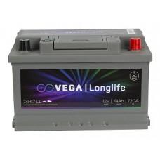 Акумулатор Vega VG LL74H17 720A Longlife R+
